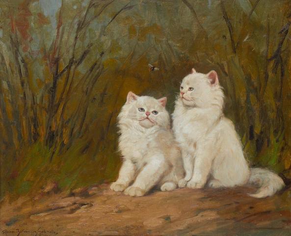 Gabriella Rainer Istvanffy (Hungarian, 1877-1964) White kittens