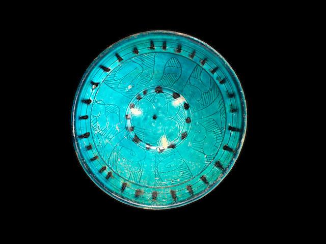 A Seljuk monochrome sgraffiato pottery Bowl Persia, 12th Century