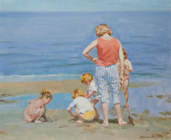 Norman Hepple (British, 1908-1994) 'Nothing like sand and water'
