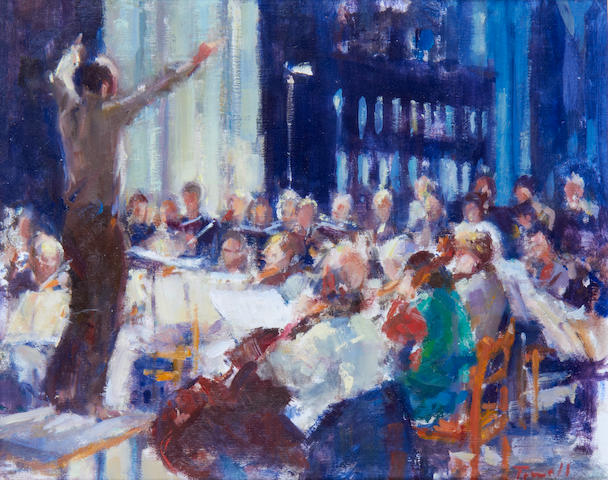 Jonathan Trowell (British, born 1938) Rehearsal at St Margarets, Kings Lynn