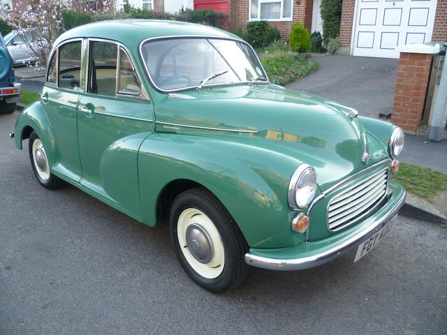1971 Morris Minor 1000 Saloon  Chassis no. MAS5D1277689M Engine no. 42829
