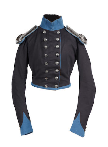 Northumberland & Newcastle Volunteer Cavalry Officer's Undress Coatee and Shoulder Scales c1835-1855