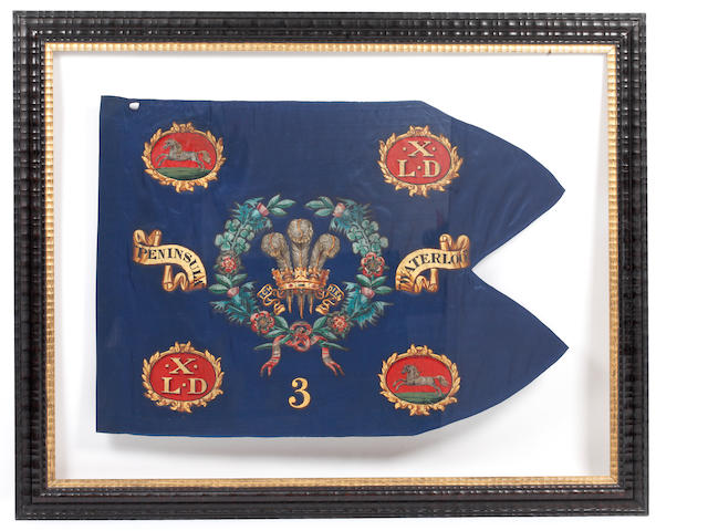 10th (The Prince of Wales's Own Royal) Light Dragoons (Hussars) Guidon For No. 3 Troop, c1816-1830