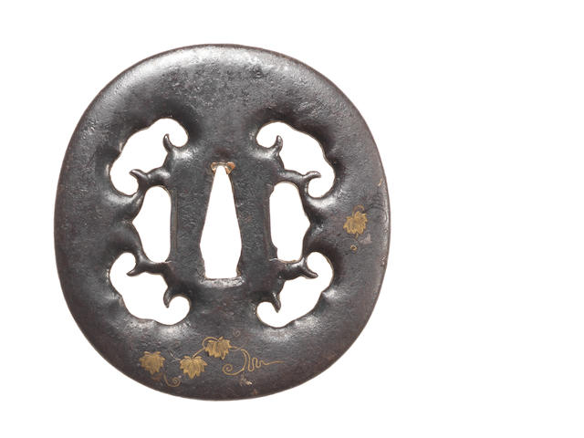An iron Higo tsuba Kamiyoshi School, 18th century