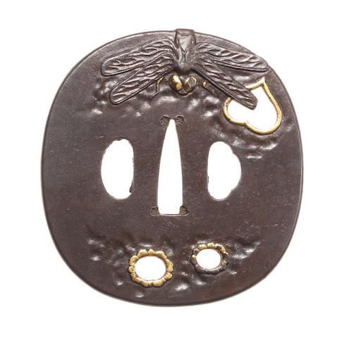 An iron tsuba Possibly Shoami School, 19th century