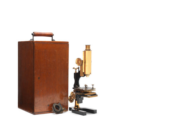 A binocular microscope, by Watson & Sons, London,