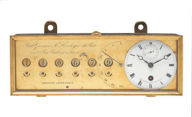 An engine-counter with timepiece, by Paul Garnier, Paris, circa 1845,