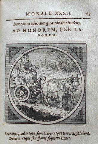 CRAMER (DANIEL) Emblemata moralia nova, 1630