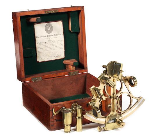 A 7ins.(18cm) radius tri circle frame sextant,