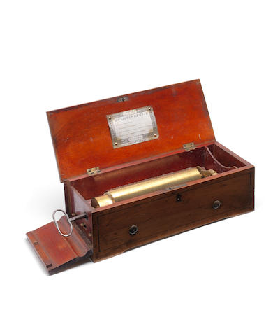 A key-wind musical box playing four airs, by Nicole Freres, circa 1857,