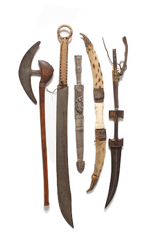 Six Tribal Edged Weapons