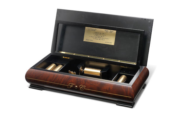 A small interchangeable musical box, by Reuge, circa 2000,