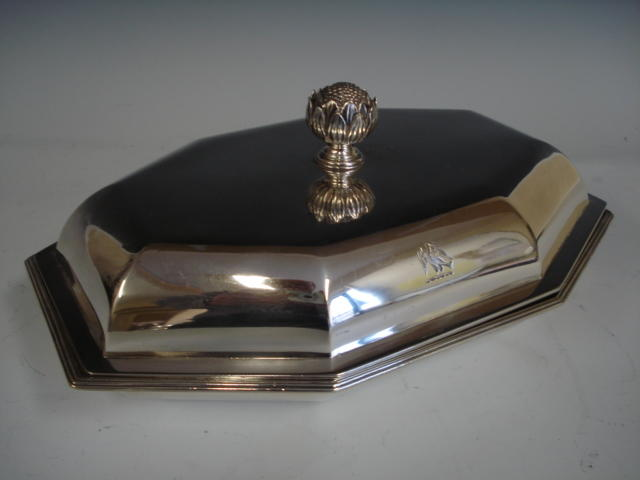 A George III silver rectangular entree dish  by John Wakelin and William Taylor, London 1792