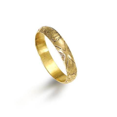 A 15th century gold marriage ring