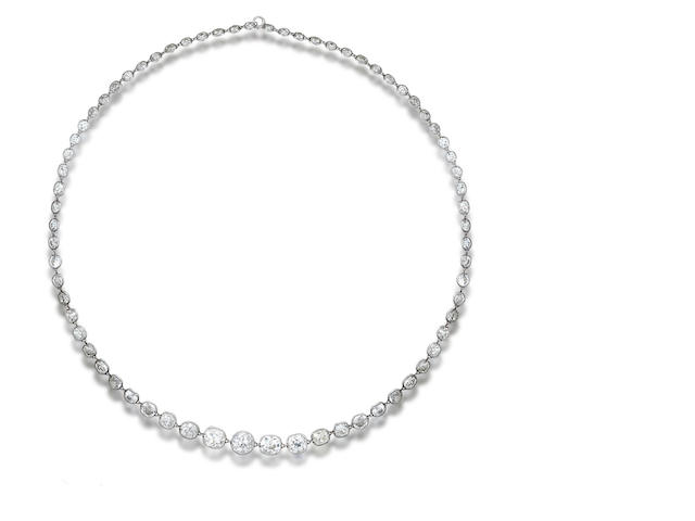 A diamond rivière necklace,