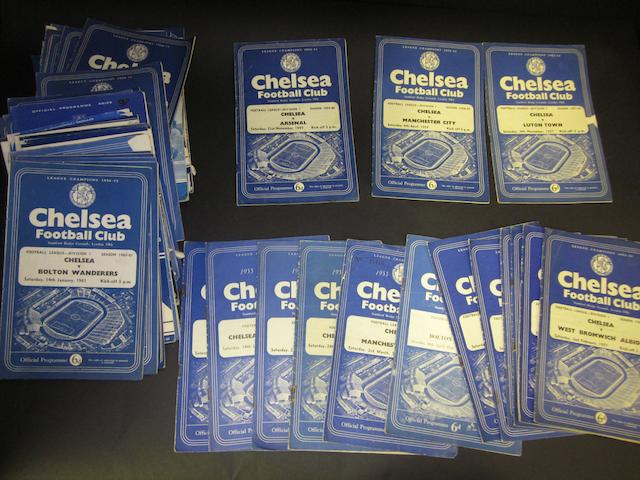 A collection of 1950's/70's Chelsea programmes