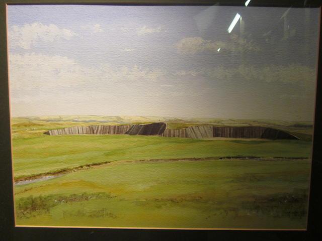 Peter Swales: Two Westward Ho! original water colour paintings