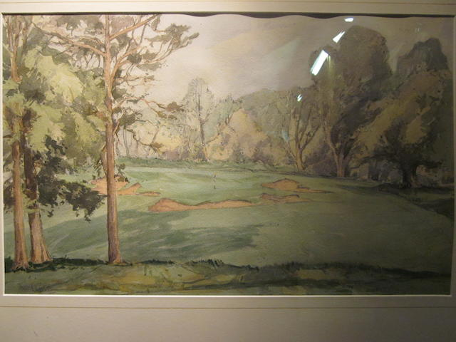 Theo T. Gracey (Irish) 1895-1959: Belvoir Park Golf Cub circa 1950s