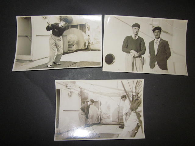 Edward Prince of Wales: Three black and white photographs circa 1932