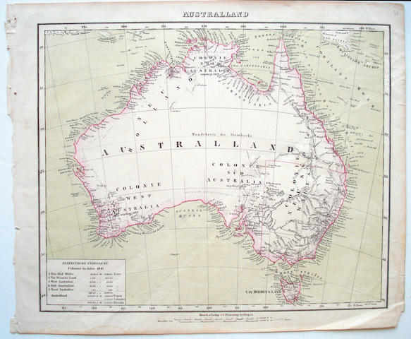 AUSTRALIA FLEMMING (CARL) Australland, [c.1845]; and 14 other maps of Australia