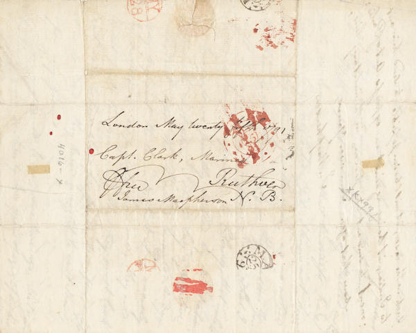 "MACPHERSON (JAMES) Autograph letter signed (""James Macpherson""), to Captain Clark of the Marines, at Ruthven, 1791"