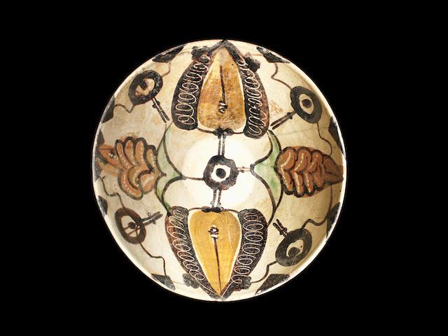 A Sari ware pottery bowl Iran 9th century