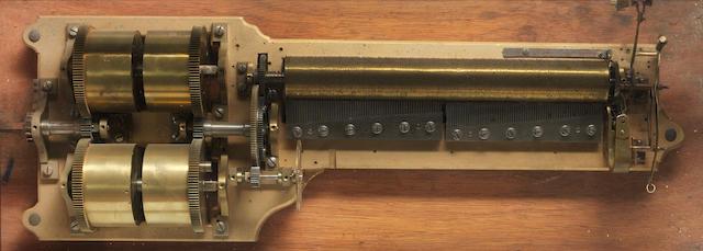 A massive 'Sublime-Harmonie' cylinder musical box movement, in later showcase, movement circa 1880, case circa 1980,