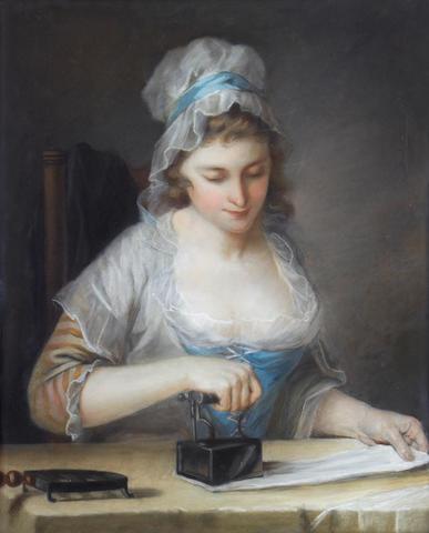 Circle of Henry Robert Morland (circa 1716-1797 London) A servant girl ironing