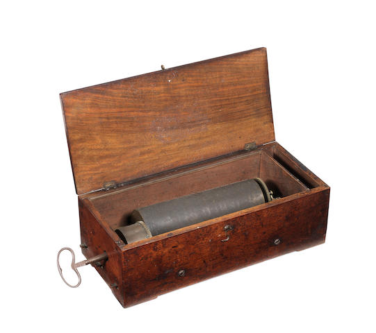 An early key-wind musical box playing three overtures, by Réymond Nicole, circa 1835,