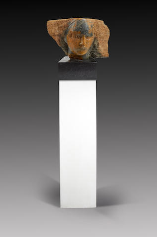 Emily Young (British, born 1951) Head carving (including base)