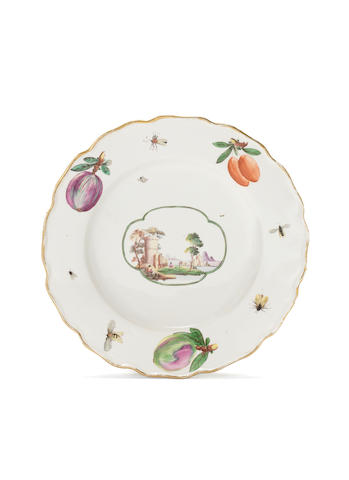 A Nymphenburg plate, circa 1765-70