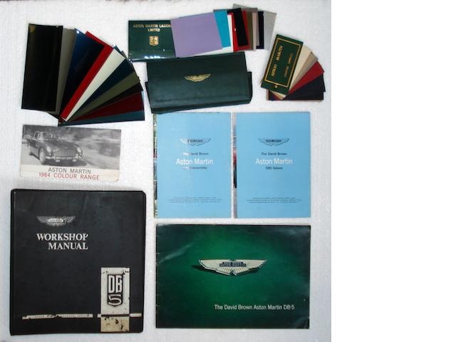 Assorted literature related to the Aston Martin DB5,
