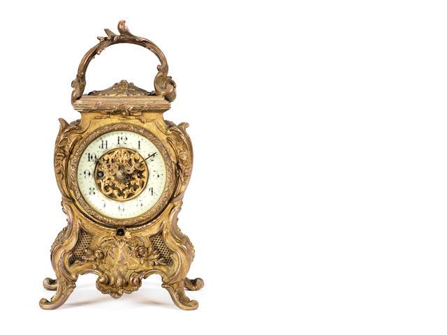 A rare Lioret phonograph mantle clock, French, circa 1900,