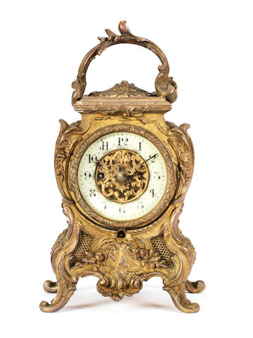 A rare Lioret phonograph mantle clock, French, circa 1900,