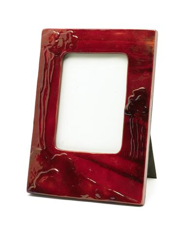 Lajos Mack, attributed, for Zsolnay An Eosin Glaze Photograph Frame, circa 1900