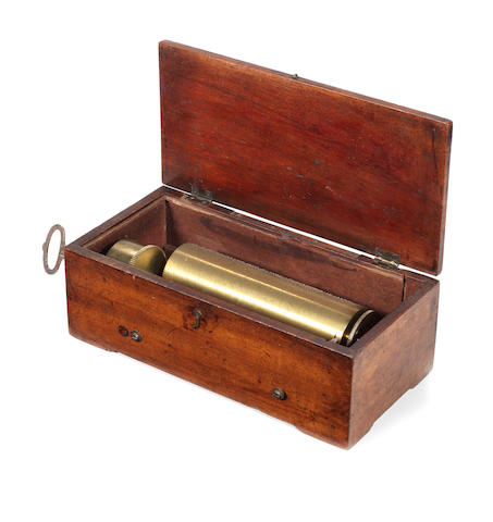 A fine and early key-wind hooked-tooth overture musical box, by Ducommun Girod, circa 1830,