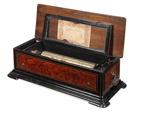 A 'Mandoline-Piccolo' musical box, playing six airs, by F. Conchon,  circa 1880,