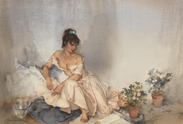 Sir William Russell Flint R.A., P.R.W.S. (British, 1880-1969) Sensitive Plants 36.2 x 54 cm. (14 1/4 x 21 1/4 in.)