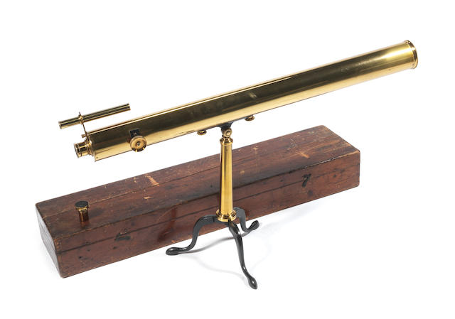 A 3-inch W Watson brass refracting telescope, English,  early 20th century,