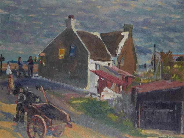 Maurice MacGonigal (Irish, 1900-1979) Houses at Loughshinny