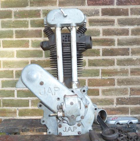 A JAP 250cc OHV engine,