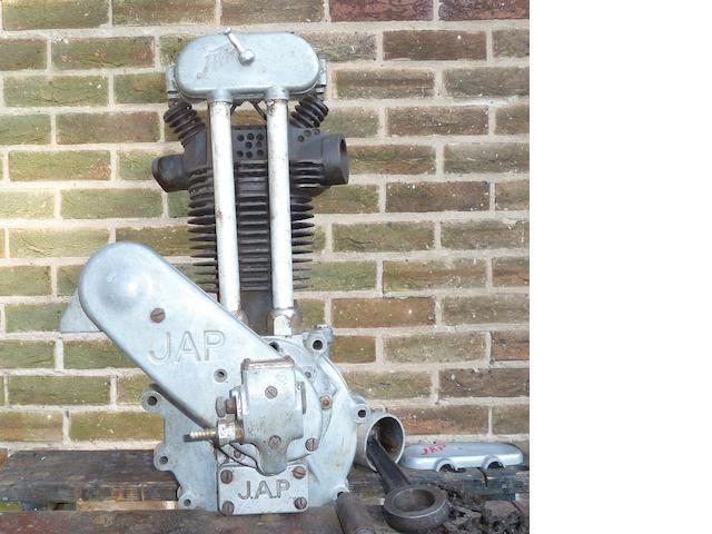 A JAP 250cc OHV engine,