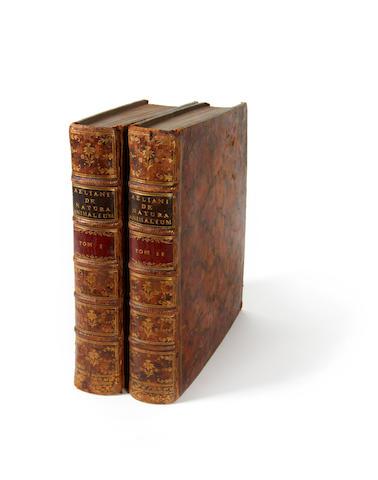 AELIANUS (CLAUDIUS) De natura animalium libri XVII, 2 vol., 1744