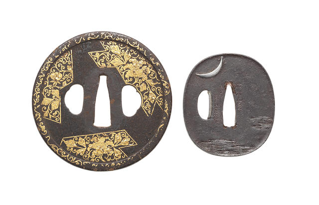 Four various tsuba 18th to 19th century