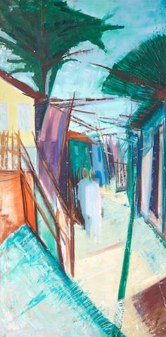 Yusuf Adebayo Cameron Grillo (Nigerian, born 1934) 'The village street'