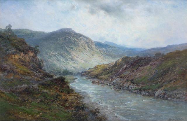Alfred de Bréanski Snr. (British, 1852-1928) A Perthshire river; Near Callender