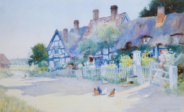 Arthur Claude Strachan (British, 1865-1938) The village pump
