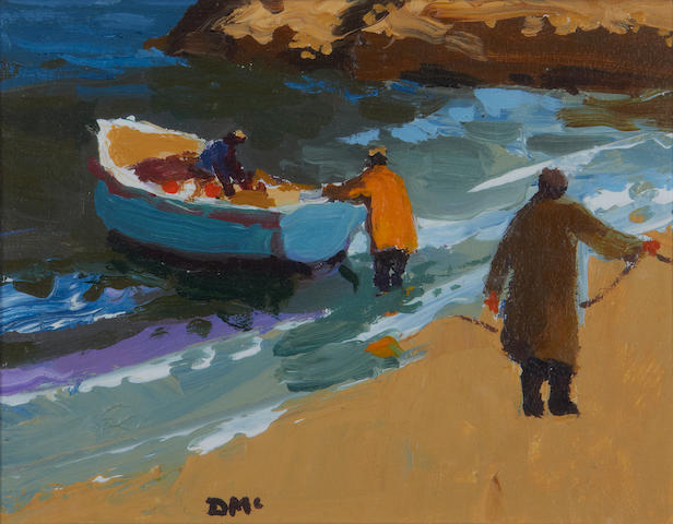 Donald McIntyre (British, 1923-2009) 'About to haul the boat up'
