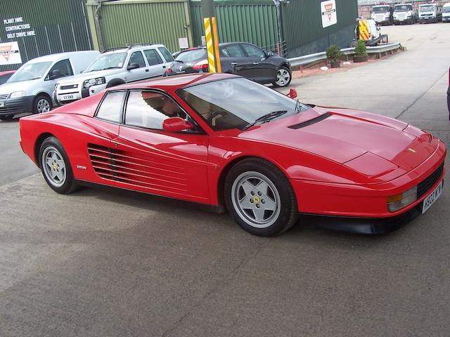 1991 Ferrari Testarossa Berlinetta  Chassis no. ZFFAA17C000087983 Engine no. 25409