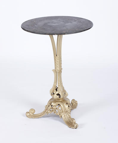 An unusual Victorian cast iron table